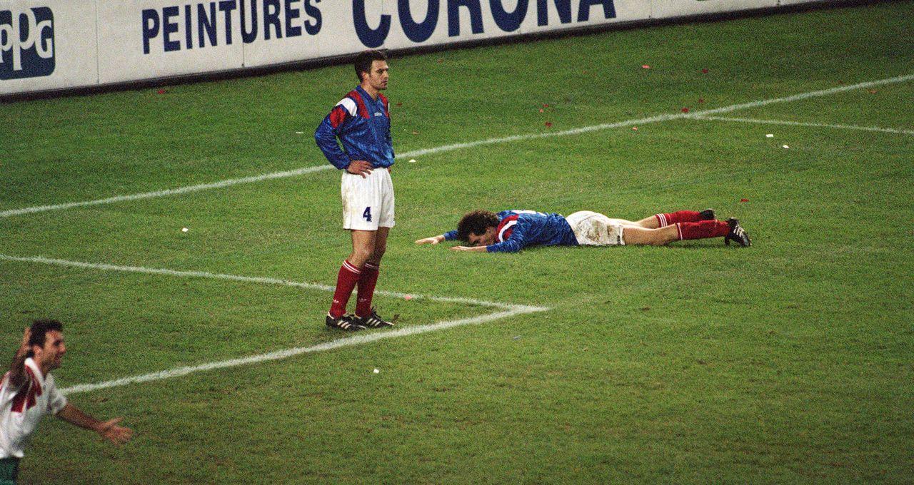 defaite en football france bulgarie 1993