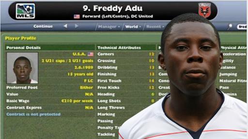 freddy adu football manager