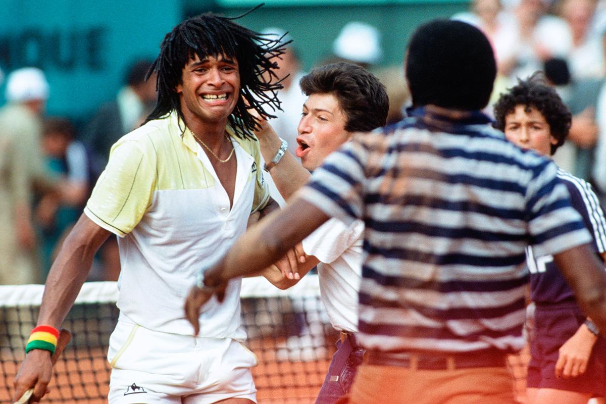 Yannick Noah à Roland-Garros en 1983